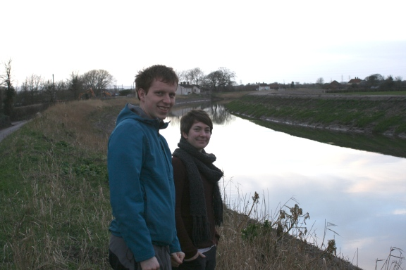 Looking at the repairs to the River Parrett
